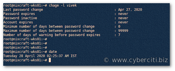 how to change password in linux command
