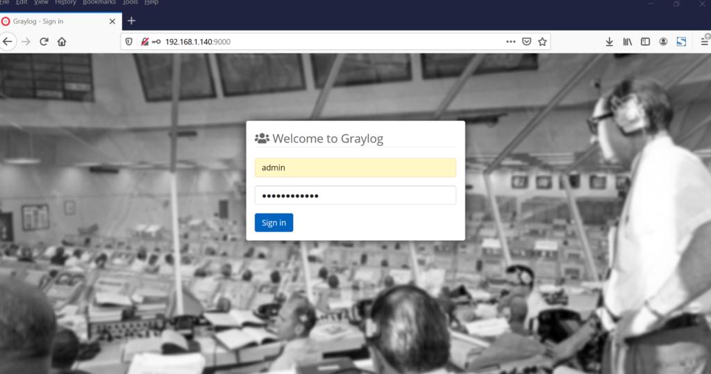 Graylog-Login-Page-CentOS8