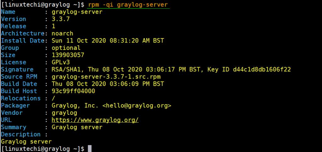 Graylog-Server-RPM-Info-CentOS8
