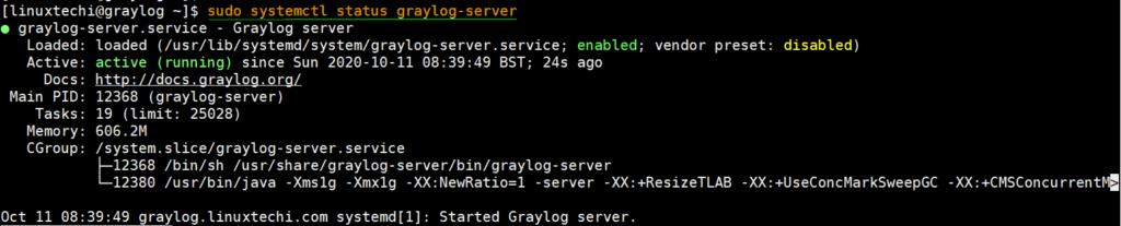 Graylog-Service-Status-CentOS8