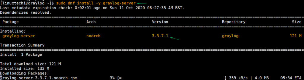 Install-Graylog-Server-with-dnf-CentOS8
