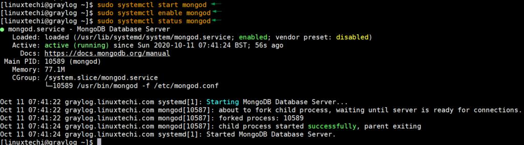 MongoDB-Service-Status-CentOS8