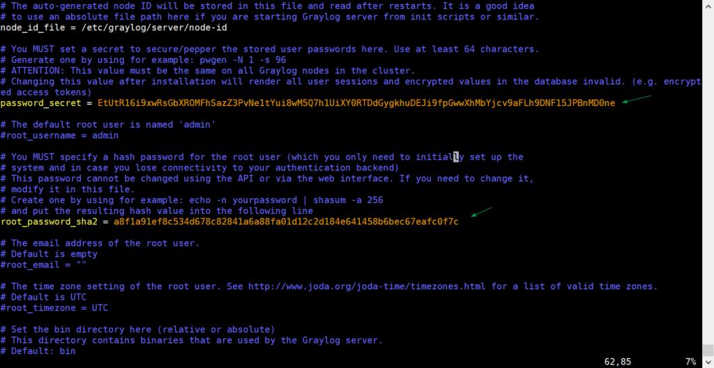 password-secret-root-password-graylog-centos8