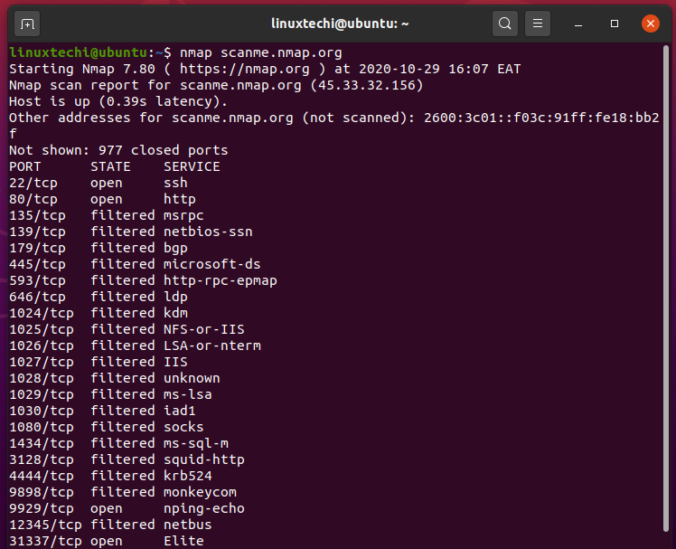 scan-host-with-name-nmap-command