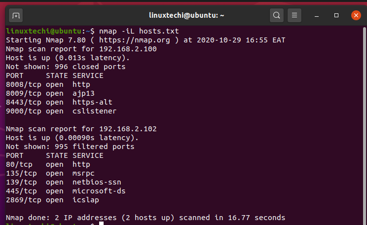 scan-hosts-from-file-nmap-command