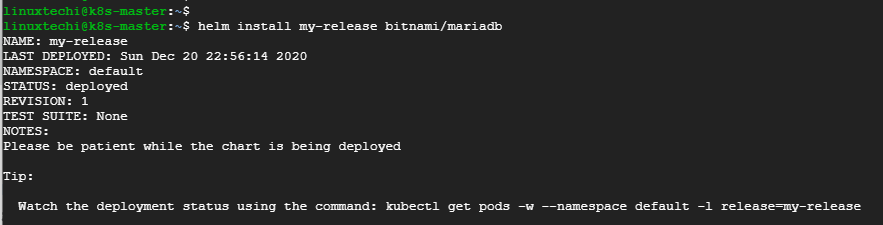 Installing-MariaDB-Using-Helm
