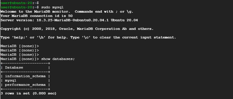 Log in to MySQL database
