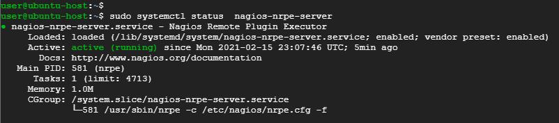 check-status-of nagios-nrpe-agent