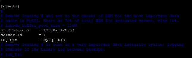 Configure MySQL Master Server