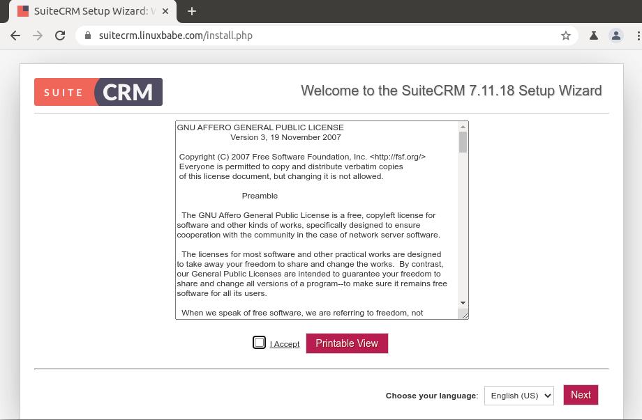 install suitecrm ubuntu 20.04