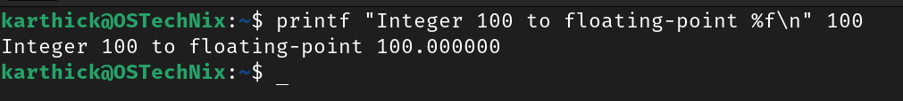 Floating point substitution